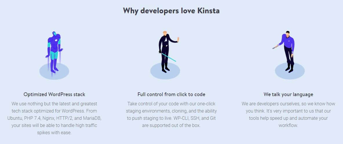 funciones de desarrollador de kinstan