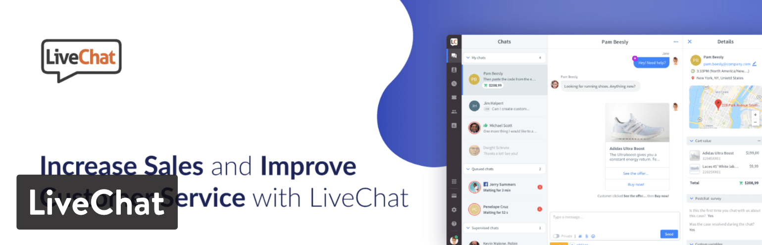 Complemento de WordPress LiveChat