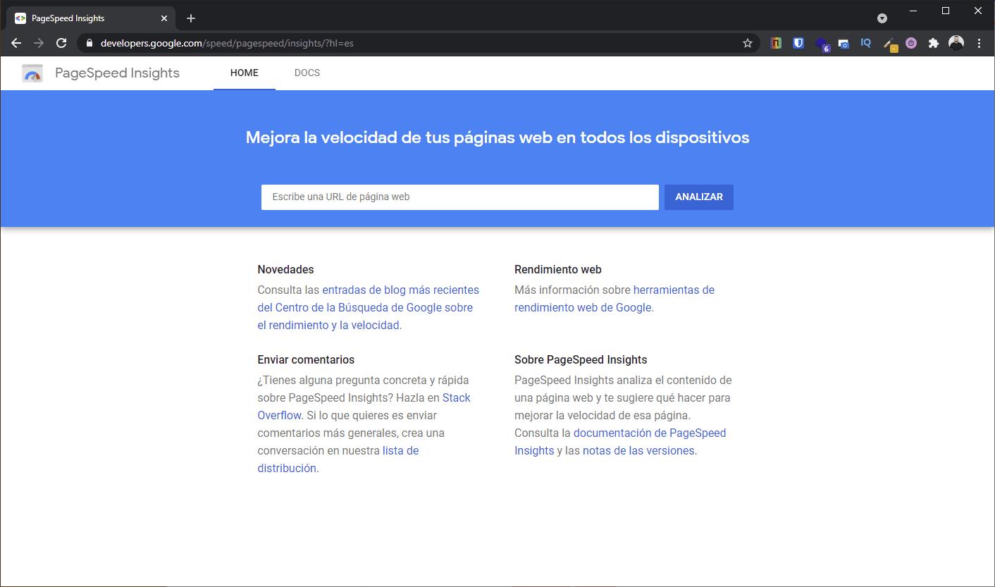 ¿Qué es Google PageSpeed?