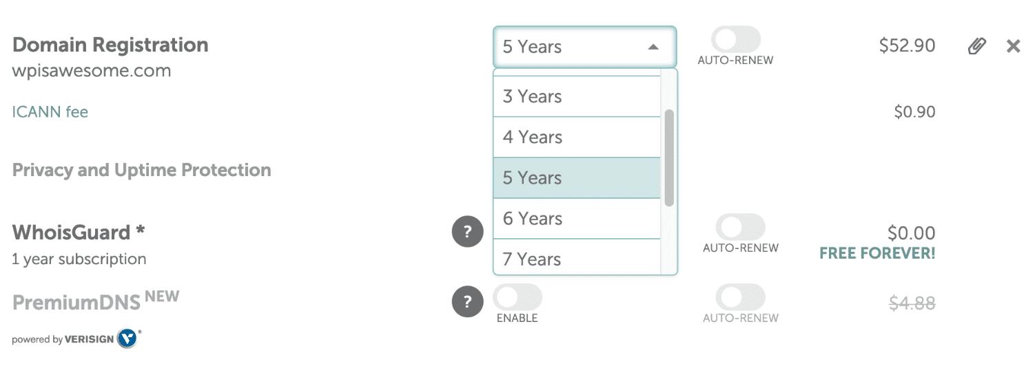 Registre nombres de dominio en los próximos años a un precio reducido