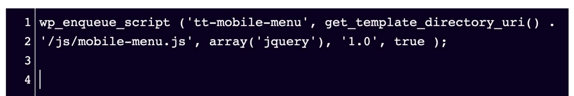 El fragmento de código se puede pegar en cualquier editor FTP siempre que esté en el archivo script-loader.php.