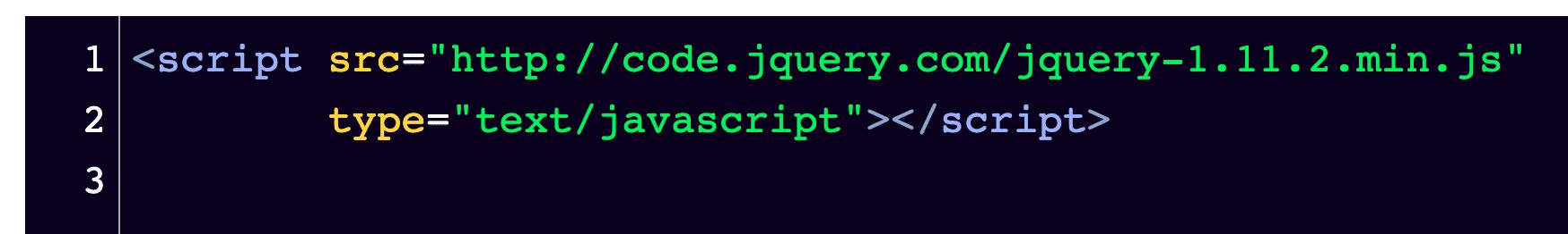El fragmento debería verse así en el editor de código.