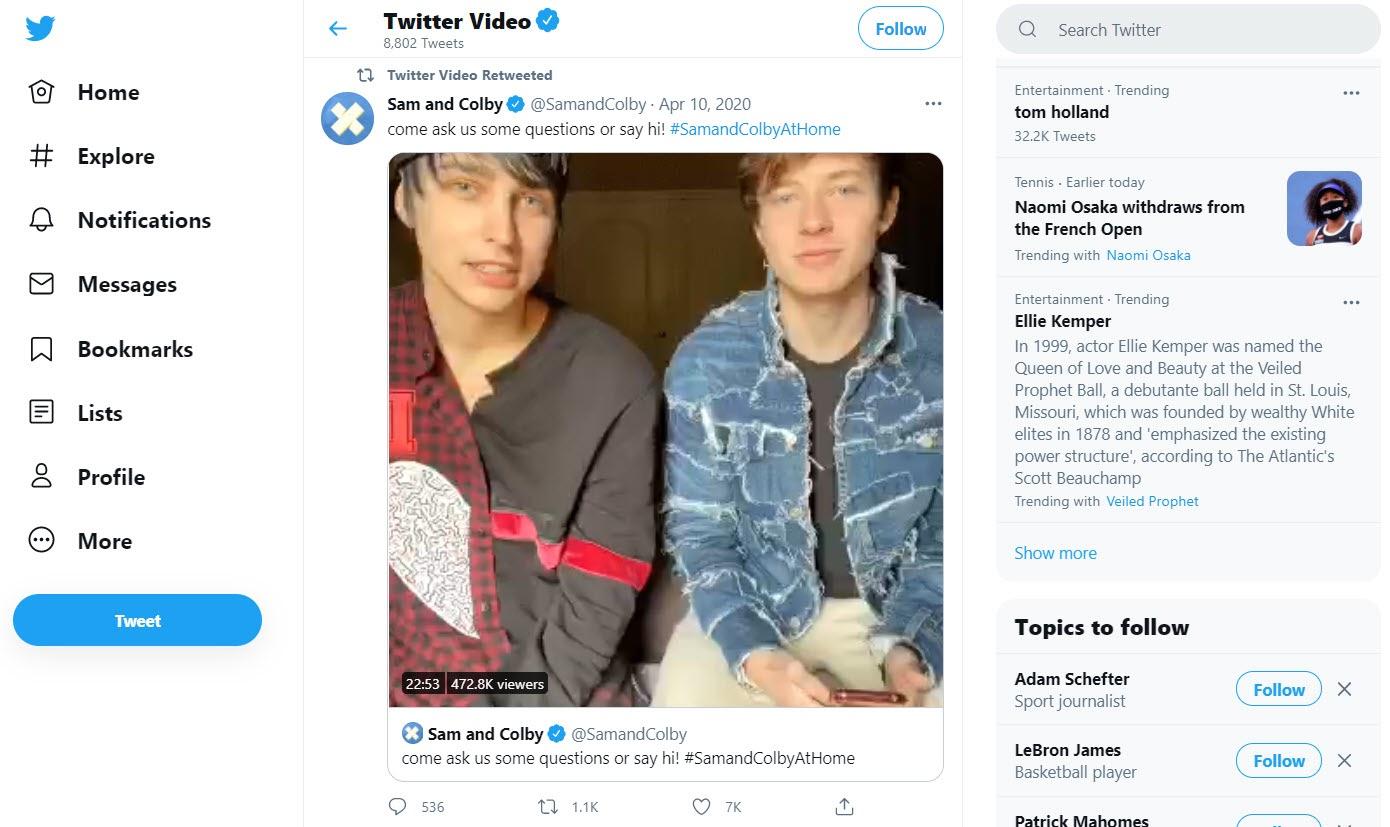 Captura de pantalla del video de Twitter.