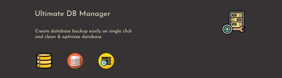 Captura de pantalla del complemento Ultimate DB Manager logo con el siguiente texto: