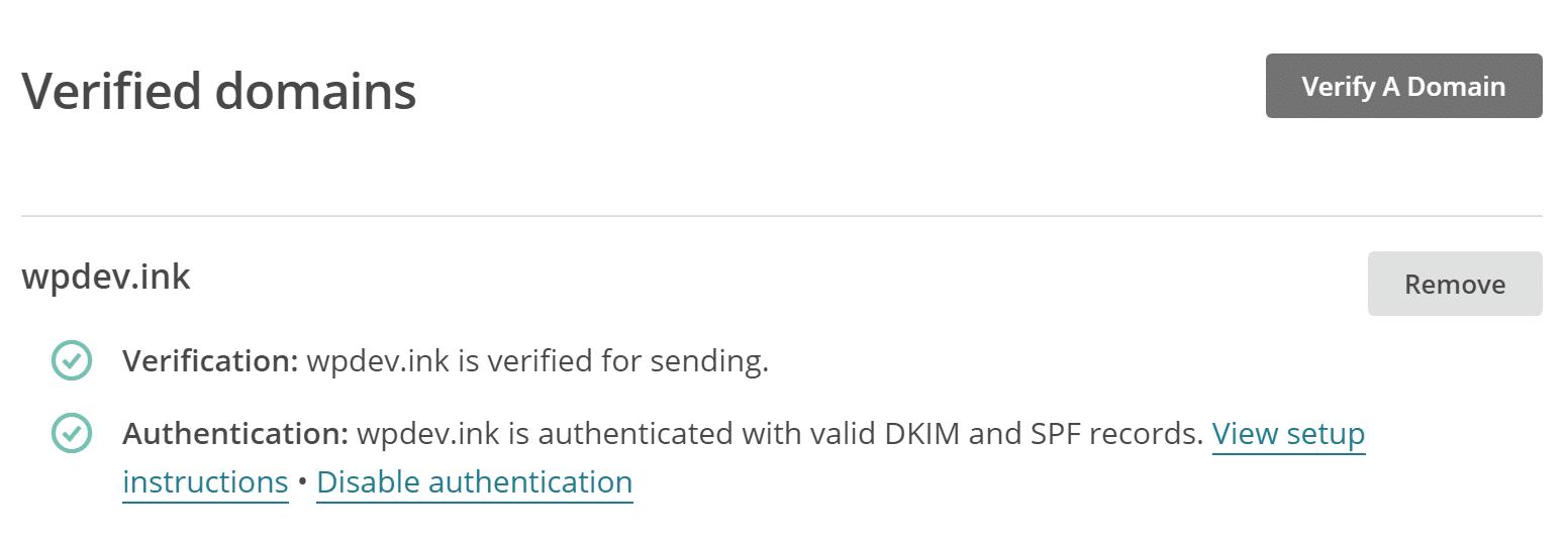 Dominio de verificación