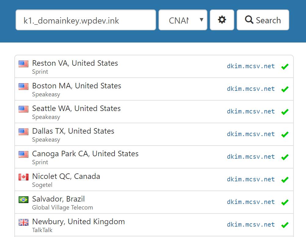 Verifique los registros DKIM