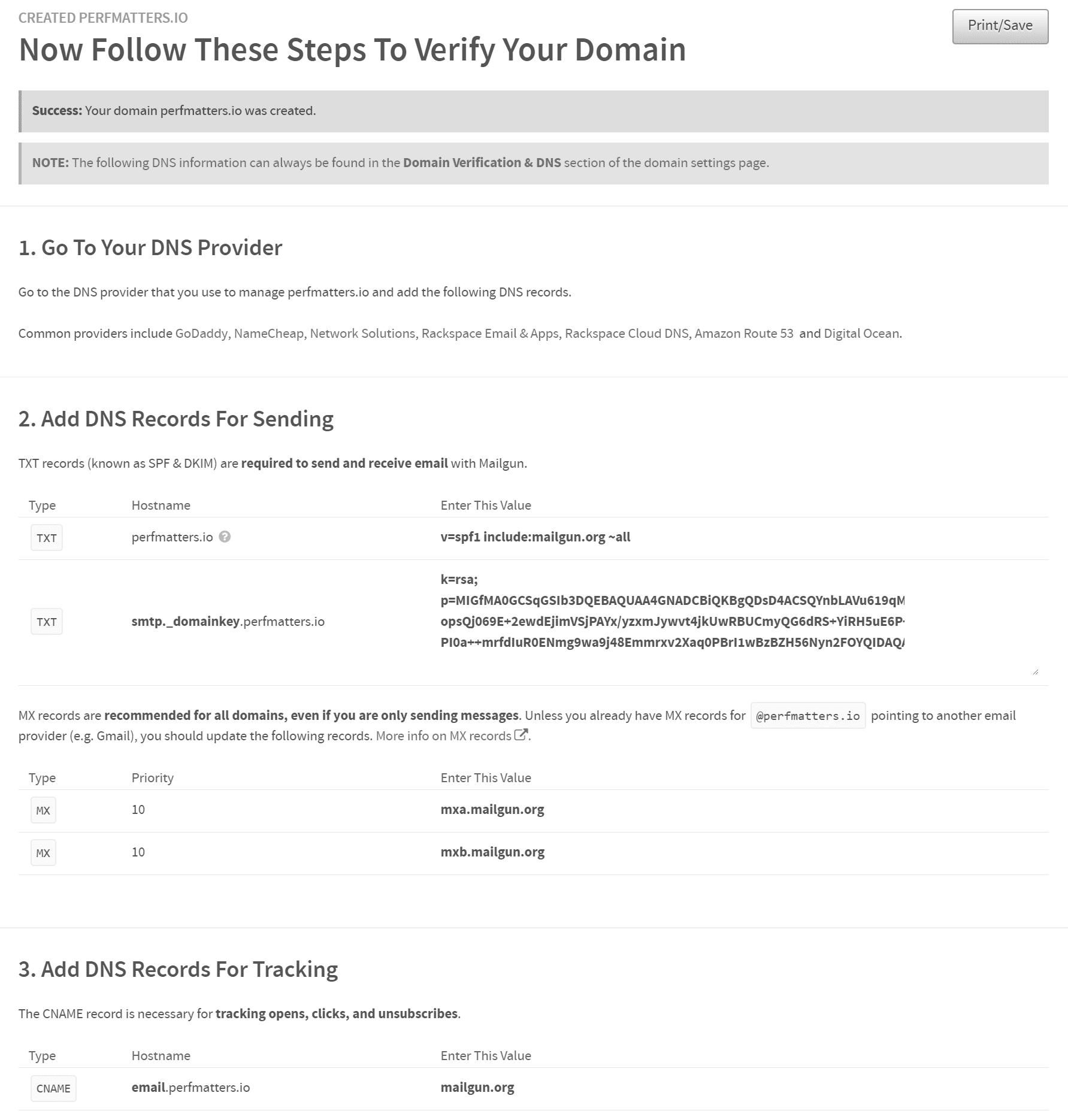 Verifique los registros DNS de su dominio
