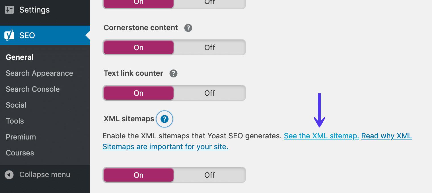 Archivo de mapa del sitio de WordPress