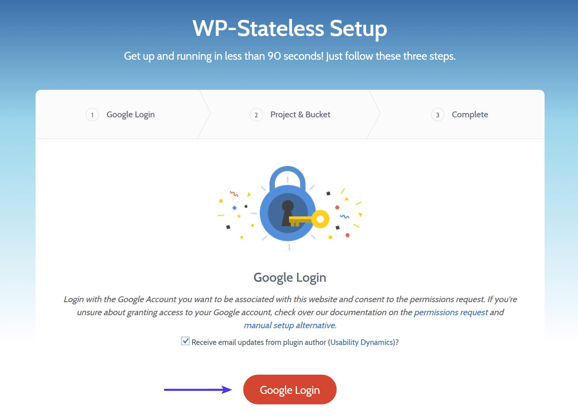 WP-Stateless Google Login