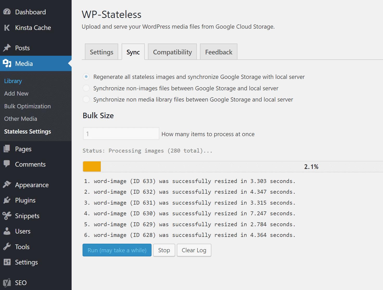 Sincronización de WP sin estado