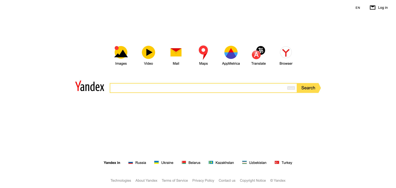Motor de búsqueda Yandex