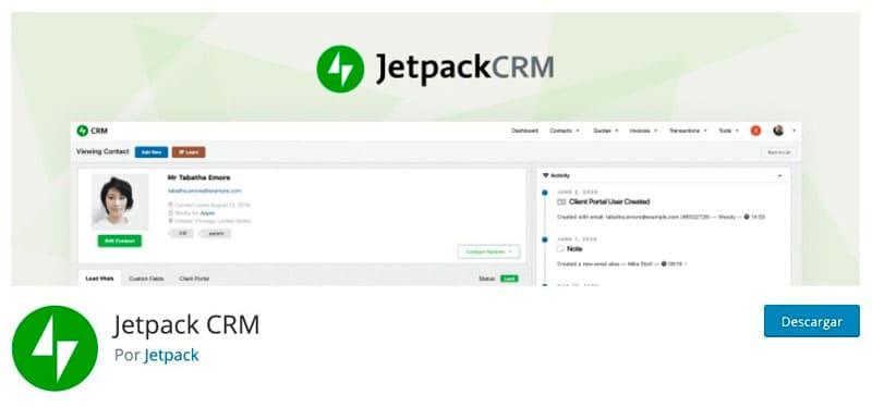 Gestión de la relación con el cliente de Jetpack