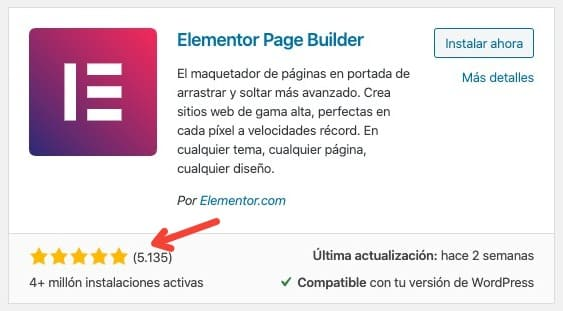 Repositorio de Elementor WordPress