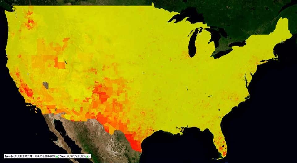Mapa de calor eeuu