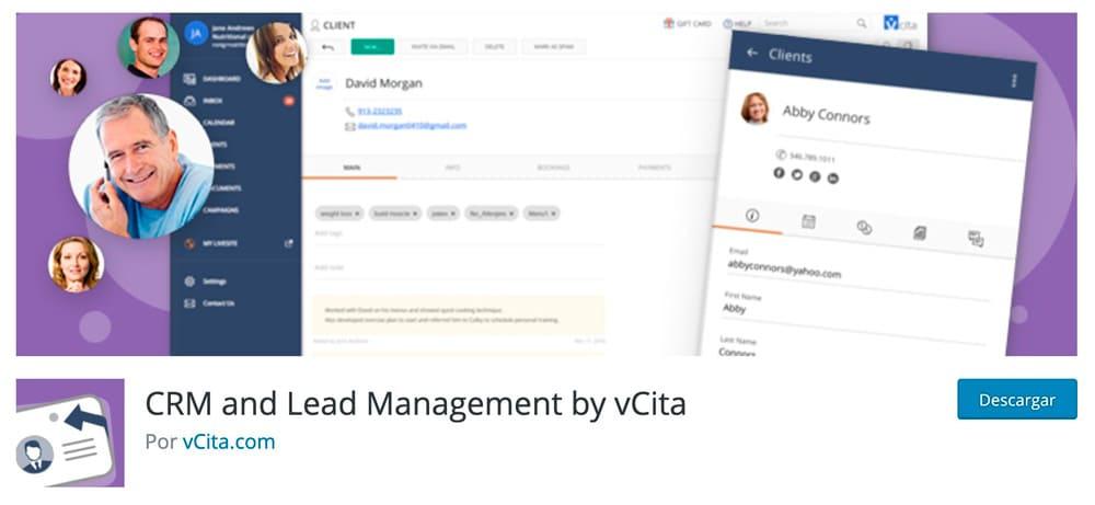 Gestión de clientes potenciales y CRM para vCita