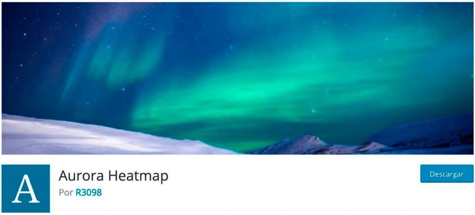 Mapa de calor de la aurora boreal