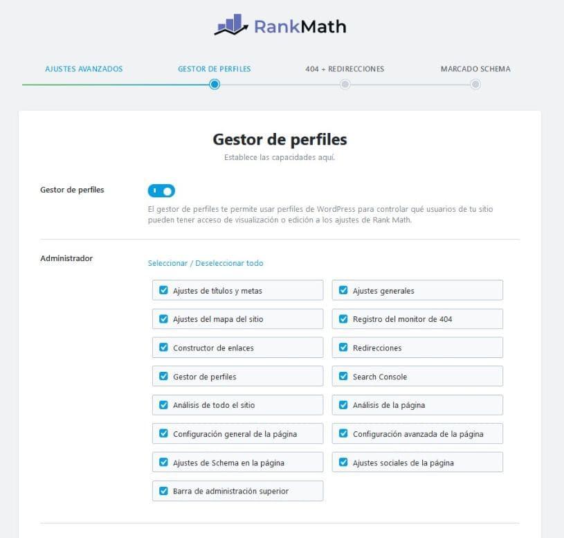 Administrador de archivos matemáticos ordenados