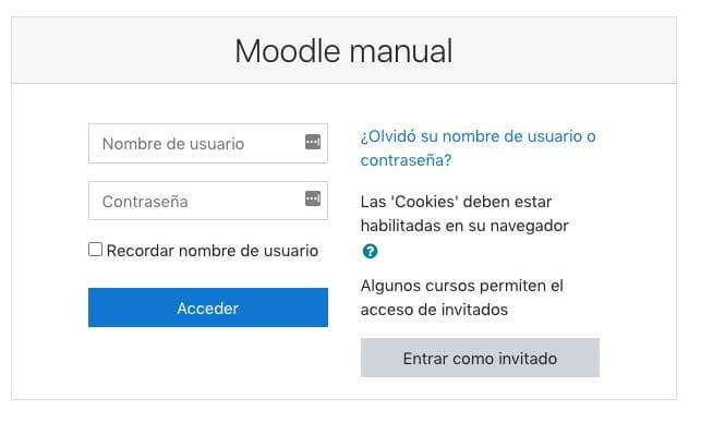Cómo acceder a un módulo manualmente