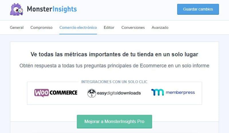 Comercio electrónico Monsterinsights