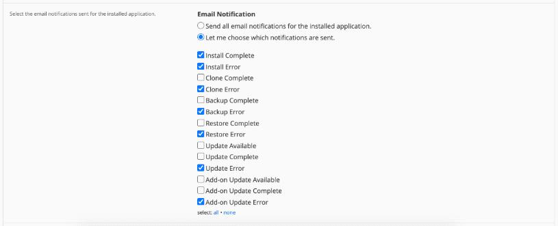 Configurar notificaciones de Magento