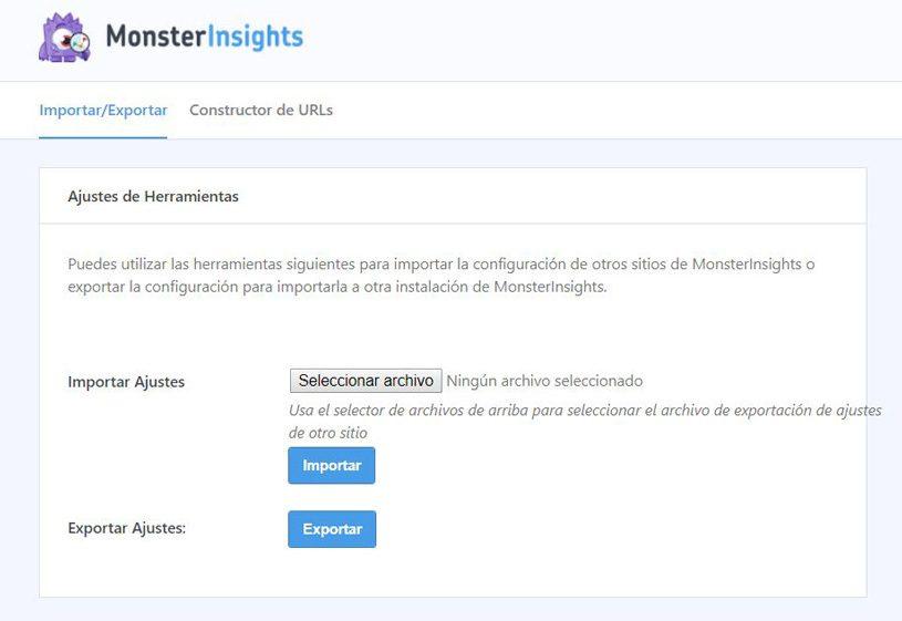 Herramientas de Monsterinsights