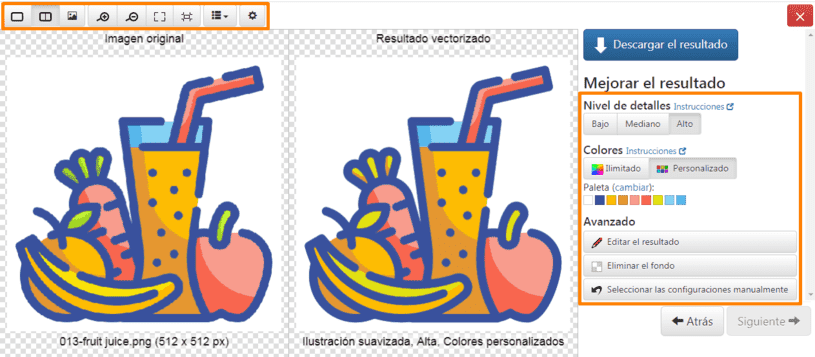 Editar imágenes en magia vectorial