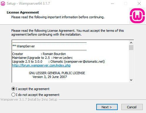 Acuerdo de licencia-Wamp
