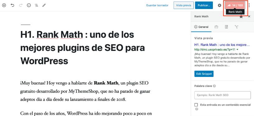 Análisis de consultas de búsqueda Ranking Matemáticas Gutenberg