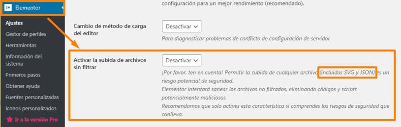 Seguridad de los elementos SVG
