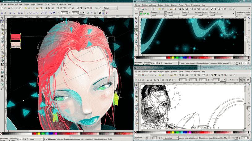 Pintura en tinta