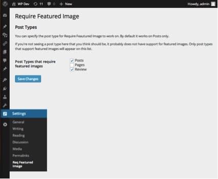 El complemento requiere una imagen de WordPress.