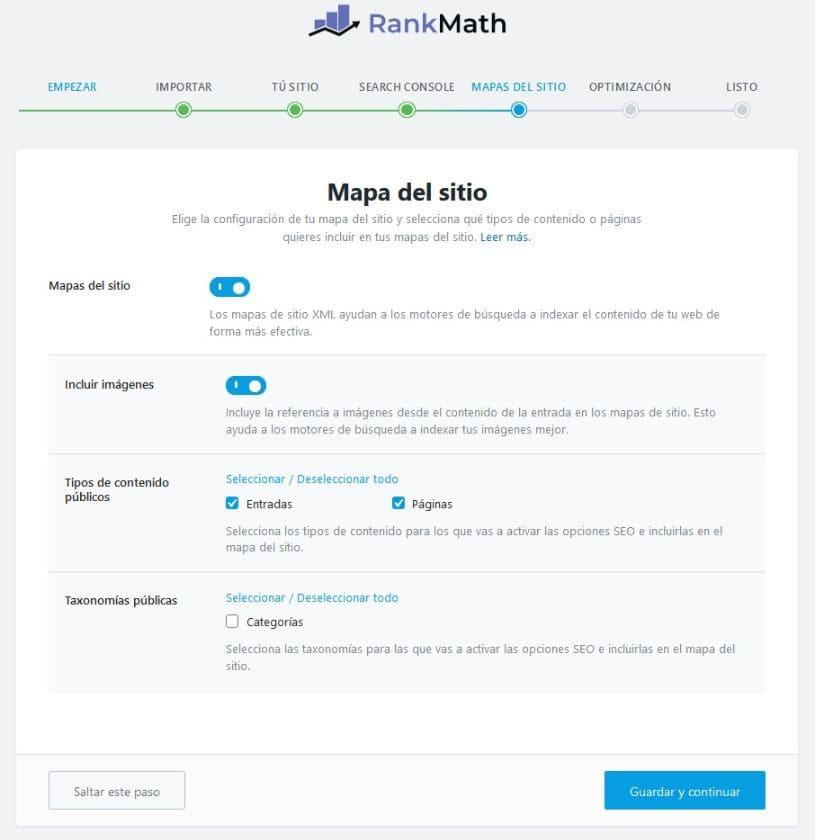 Matemáticas de clasificación del mapa del sitio