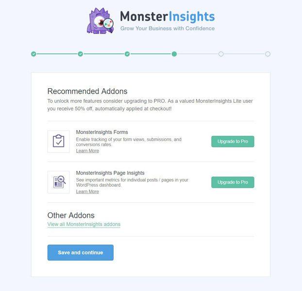 Complementos de Monsterinsights
