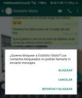 Bloquear mensajes de extraños en WhatsApp