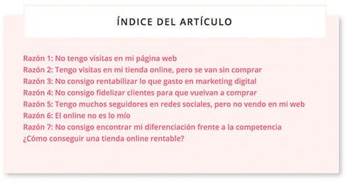 Ejemplo de índice