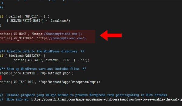 Insertar código local