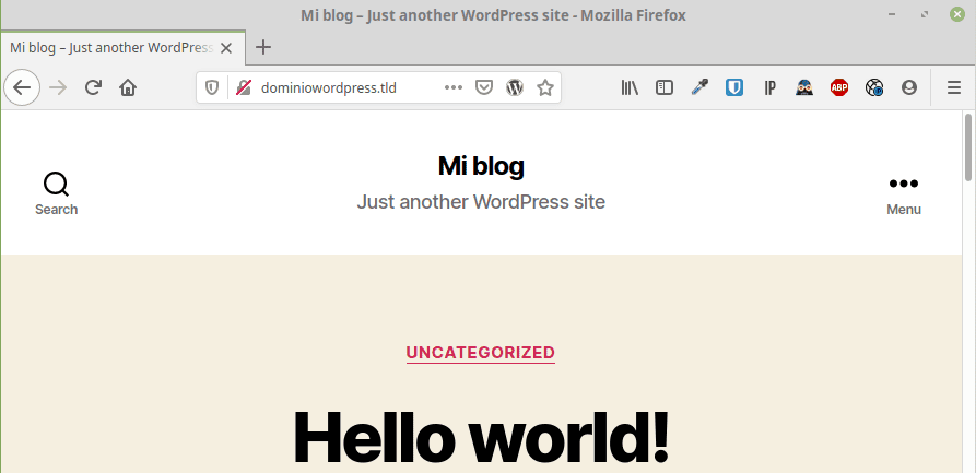 Instale WordPress correctamente