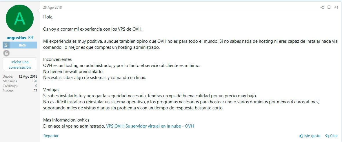 Reproducciones de OVH en Forobeta.com