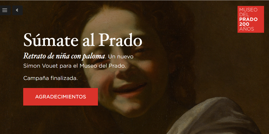 Sitio de crowdfunding del Museo del prado