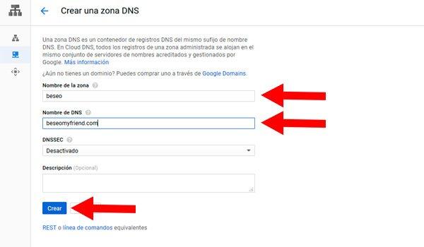 Preparar DNS