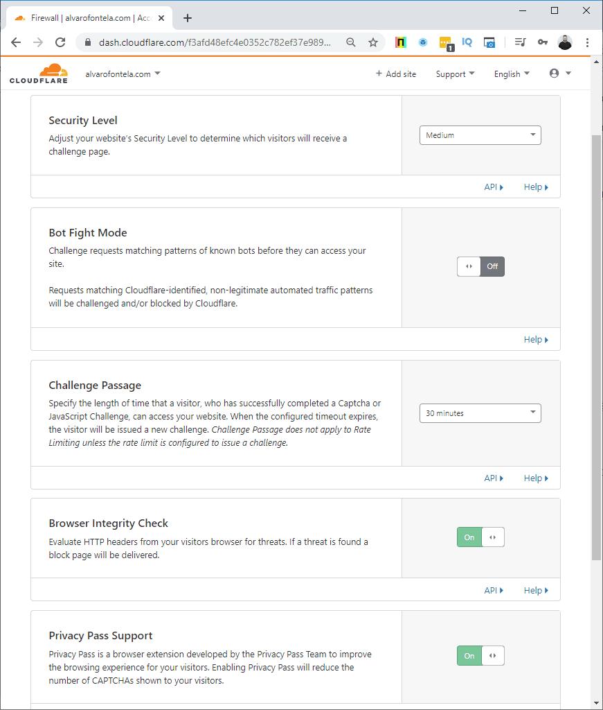WordPress de Cloudflare