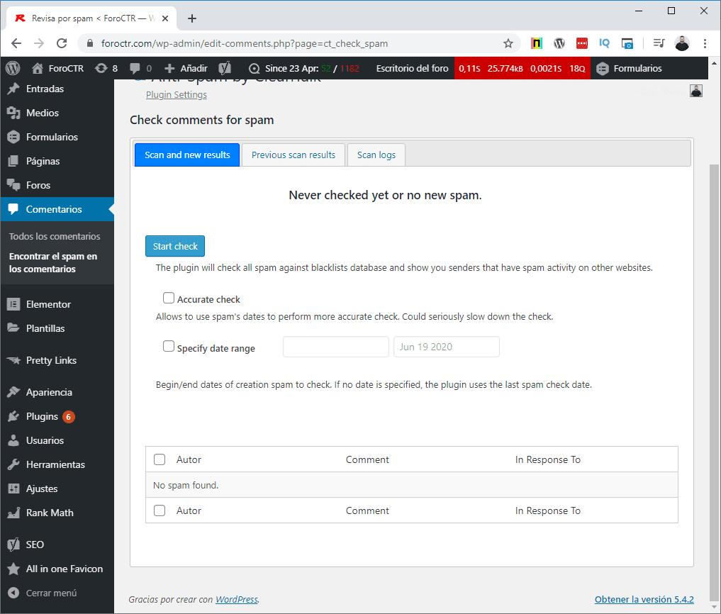 CleanTalk WordPress